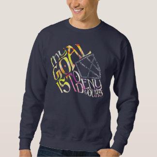 Hockey Goalie Typography Mask Sweatshirt
