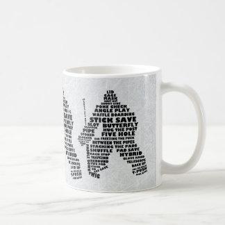 Hockey Goalie Typography Mug