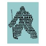 Hockey Goalie Typography Postcard