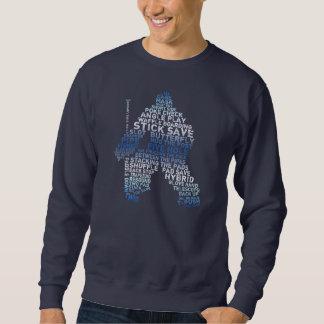 Hockey Goalie Typography Sweatshirt