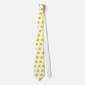 Hockey Goalie Yellow Logo Tie