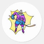 Hockey Grandma Classic Round Sticker