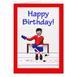 Hockey Happy Birthday Greeting Card