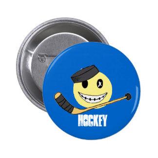 HOCKEY HAPPY PINBACK BUTTON