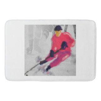 Hockey, He Shoots and Scores Art Bathroom Mat