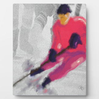 Hockey, He Shoots and Scores Art Plaque