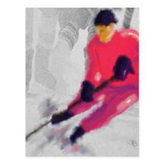 Hockey, He Shoots and Scores Art Postcard