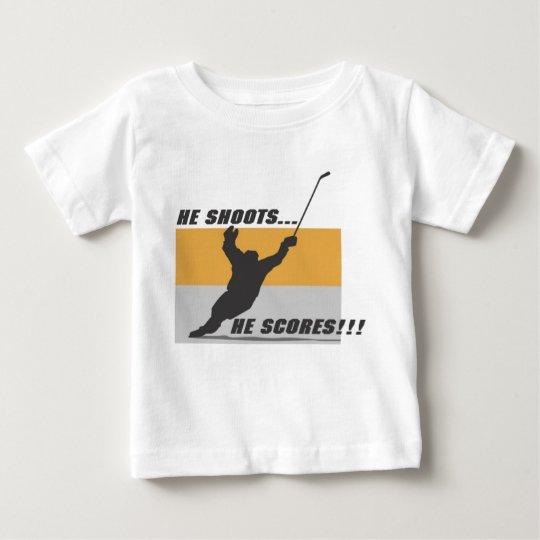 Hockey: He shoots...he scores! Baby T-Shirt