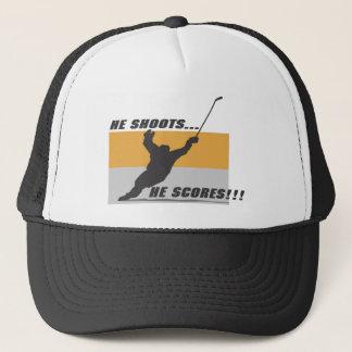 Hockey: He shoots...he scores! Trucker Hat