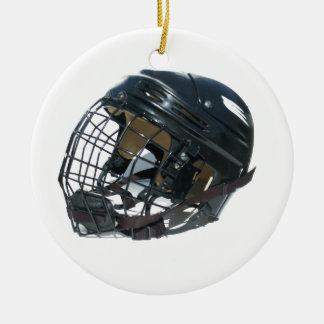 Hockey Helmet Ceramic Ornament