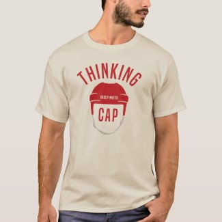 Hockey Helmet Thinking Cap T-Shirt
