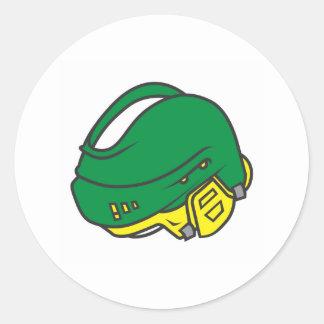 Hockey Helmets Classic Round Sticker