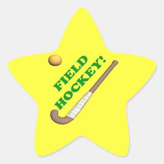 Hockey hierba 2 pegatina en forma de estrella