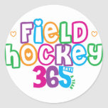 Hockey hierba 365 pegatina redonda