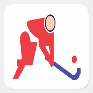 Hockey hierba 5 colcomanias cuadradass