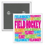 Hockey hierba colorido pin