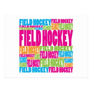 Hockey hierba colorido tarjetas postales