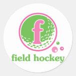 Hockey hierba de Allaire Pegatina Redonda