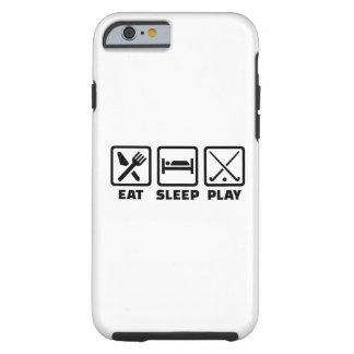Hockey hierba de Eat Sleep Play Funda Para iPhone 6 Tough