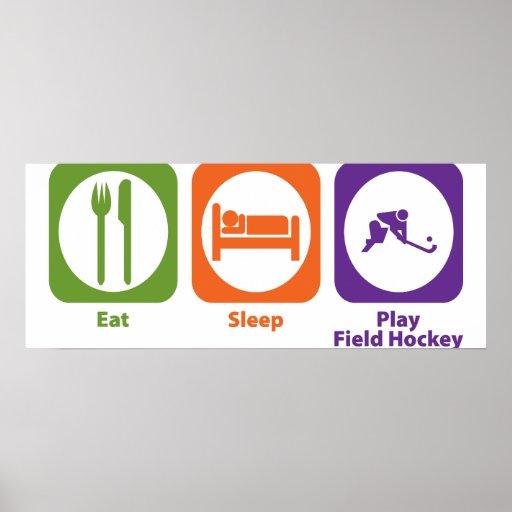 Hockey hierba de Eat Sleep Play Impresiones