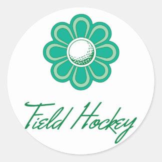 Hockey hierba de Flowerboom Etiquetas Redondas
