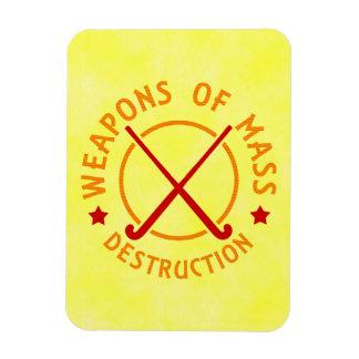 Hockey hierba de las armas de destrucción masiva imán de vinilo