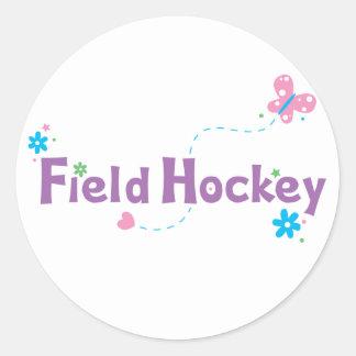 Hockey hierba del alboroto del jardín etiqueta