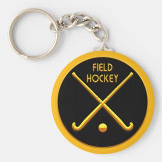 Hockey hierba llavero redondo tipo pin