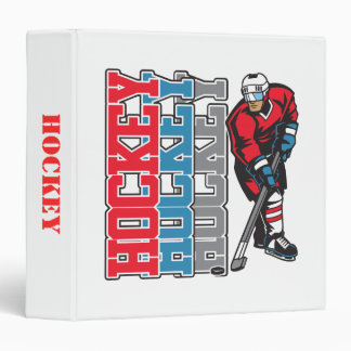 Hockey, Hockey, Hockey 3 Ring Binder