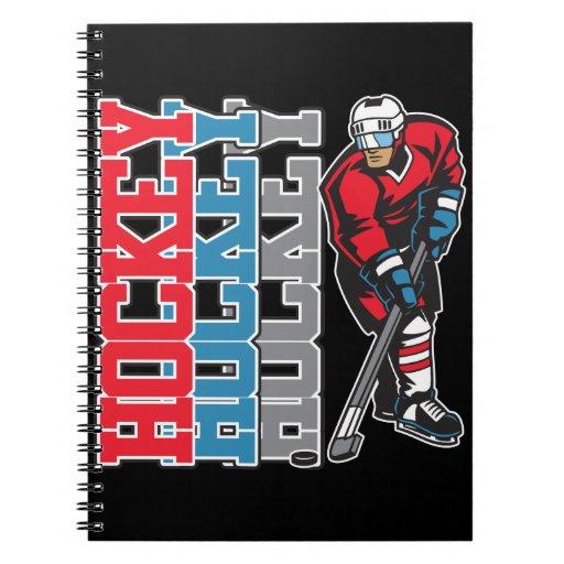 Hockey, Hockey, Hockey Spiral Note Books