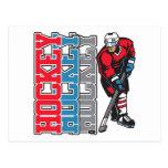Hockey, Hockey, Hockey Post Card