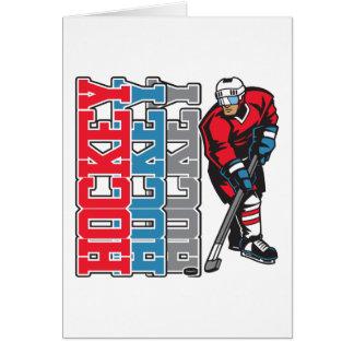 Hockey, hockey, hockey tarjeton