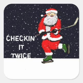 hockey holiday gift tags