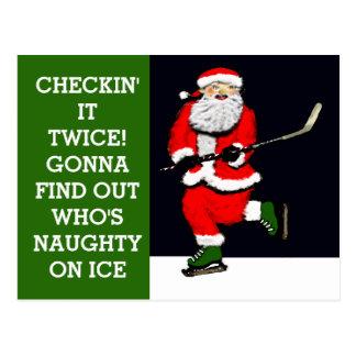 Hockey holiday greeting card
