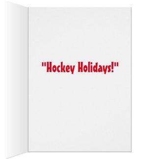 """Hockey Holidays"" Holiday Greeting Card"