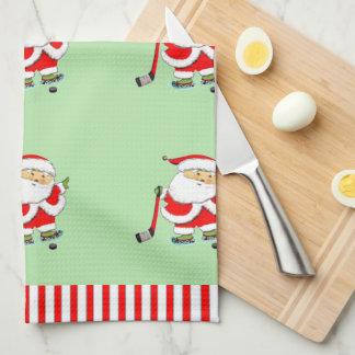 Hockey Holidays Kitchen Towel