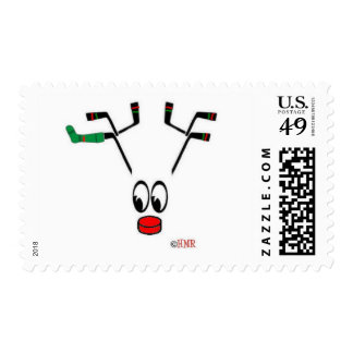 """""""Hockey Holidays"""" Postage Stamps - Great for Cards"""