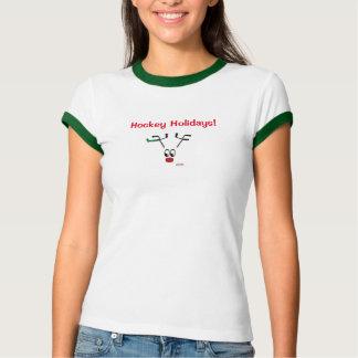 Hockey Holidays Reindeer Original Design T Shirt