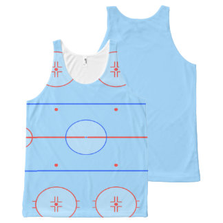 Hockey Ice Rink Pitch All-Over-Print Tank Top