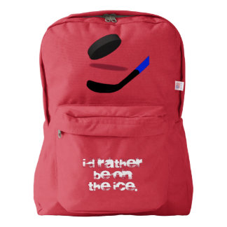 Hockey I'd Rather Be on the Ice American Apparel™ Backpack