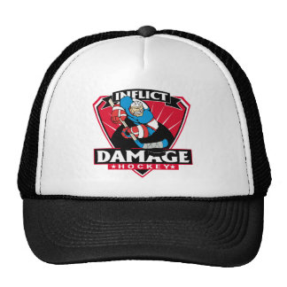 Hockey Inflict Damage Mesh Hat