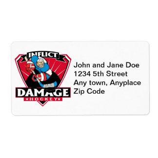 Hockey Inflict Damage Label