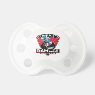 Hockey Inflict Damage Pacifier