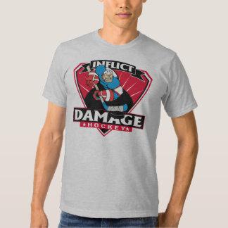Hockey Inflict Damage T Shirt