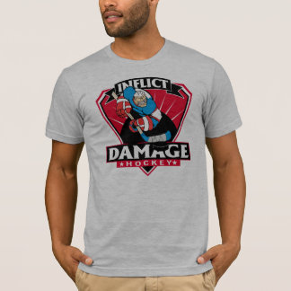 Hockey Inflict Damage T-Shirt