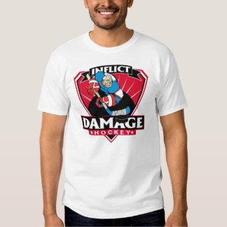 Hockey Inflict Damage Tee Shirt