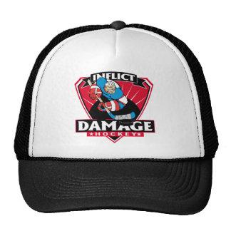 Hockey Inflict Damage Trucker Hat