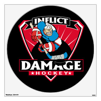 Hockey Inflict Damage Wall Decal