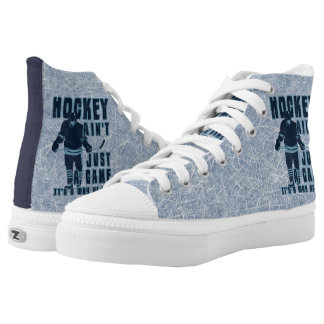Hockey Is a Way of Life High Tops Sneakers