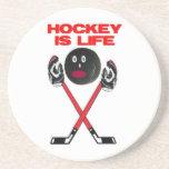 Hockey is Life Beverage Coaster